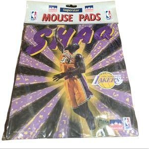 NWT Vintage Los Angeles LAKERS SHAQ mouse pad 1998 - SHAQUILLE O'NEIL